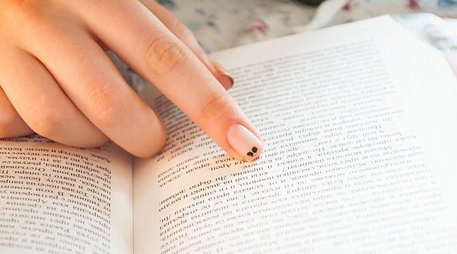 speed reading finger