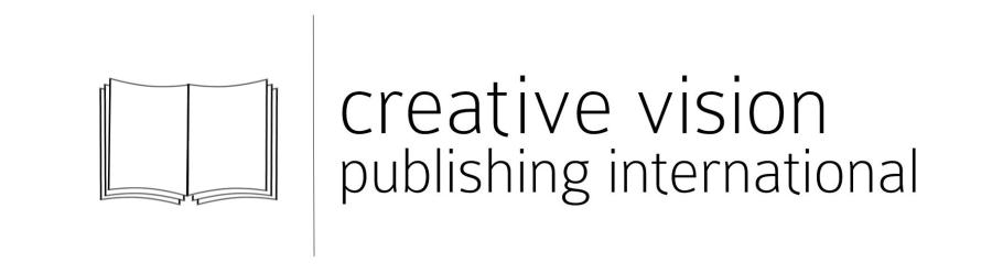 Sigla editurii Creative Vision Publishing International alb-negru