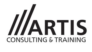 sigla MARE Artis Consulting & Training alb si negru