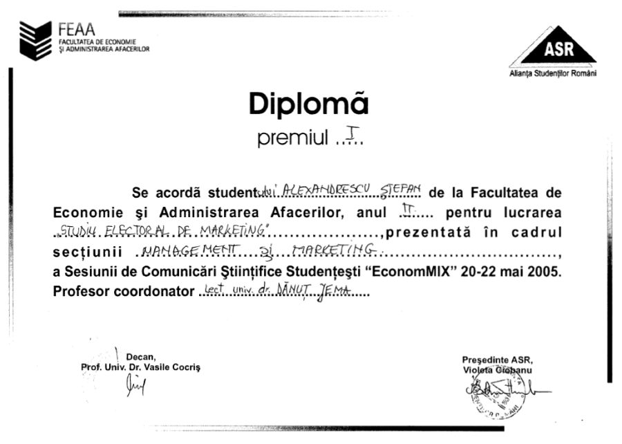 diploma loc I management marketing