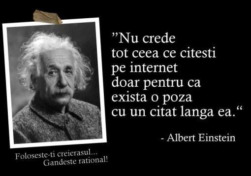 Albert Einstein - nu crede orice