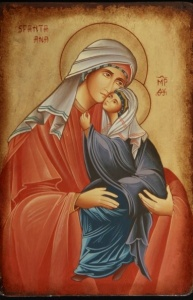 Sfanta Ana cu Fecioara Maria in braţe