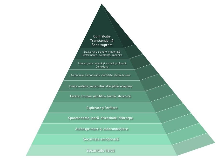 Piramida nevoilor. Grafic de Simona Secăreanu.